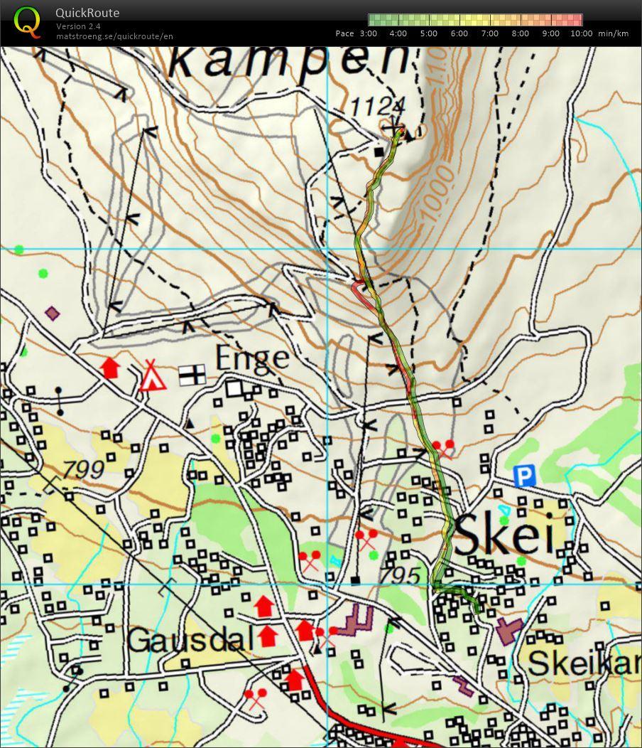 skeikampen kart Mitt digitale veivalgsarkiv :: Skeikampen opp og ned (19.06.2016) skeikampen kart